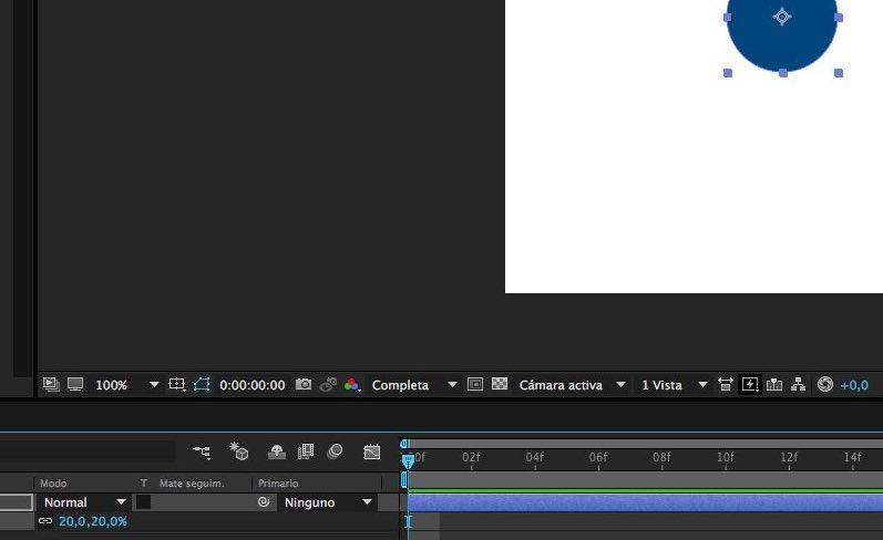paso 03 - Reducir el tamaño de la capa - crear rebote en After Effects