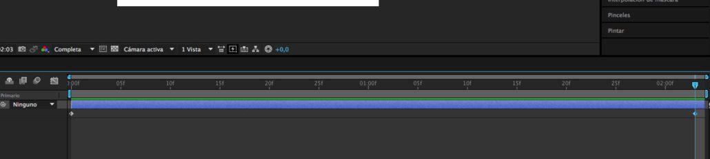 paso 05 - dos fotogramas claves al comienzo y final de la animación
