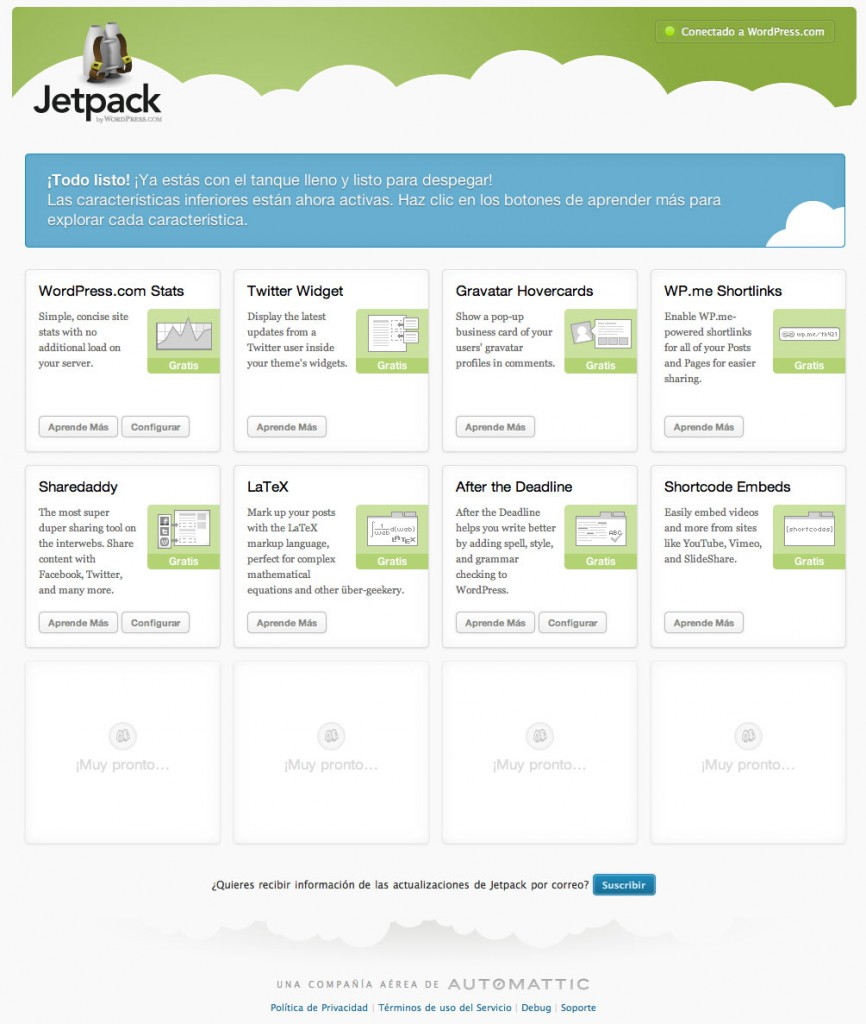 wordpress jetpack plugins